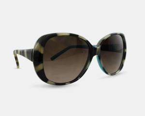 Liz Claiborne Villager Turquoise Zebra Sunglasses
