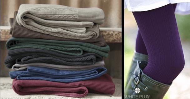 White Plum's Cable Knit Fleece Lined Leggings Just $7.99 (Reg. $22)!