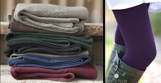 White Plum's Cable Knit Fleece Lined Leggings Just $7.99 (Reg. $22)!