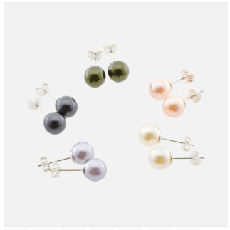 Swarovski Elements Pearl Studs Only $6.99 + FREE Shipping!