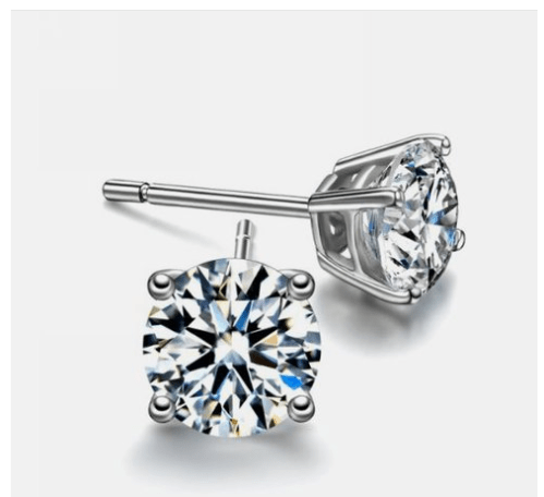 2ct Sterling Silver Round Simulated Diamond Earrings Only $5 SHIPPED (Reg. $99.99)!