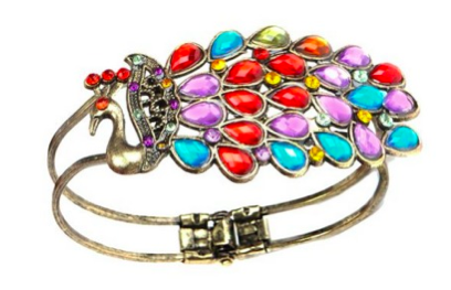 Vintage Crystal Peacock Bracelet Only $4.63 + FREE Shipping!