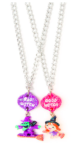 Claire's Halloween Clearance - Best Friends Good and Bad Witch Pendant Necklaces Only $2.00 (Reg. $10.50)!