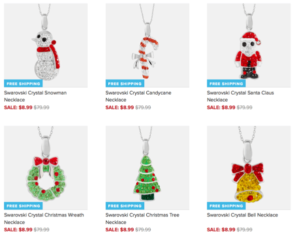 Swarovski Crystal Christmas Pendants Only $8.99 + FREE Shipping (Reg. $80)!