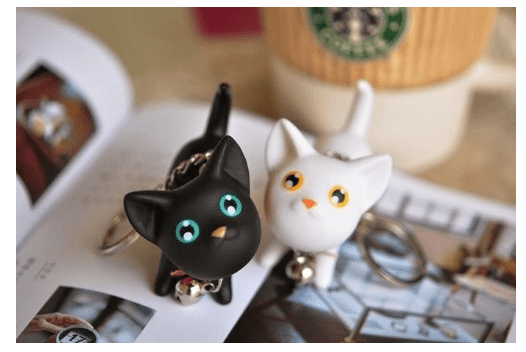 Cute Kitten Key Rings Only $1.99 + FREE Shipping!