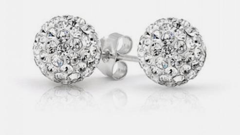2 Ct Swarovski Crystal Ball Studs $5.99 + FREE Shipping (Reg. $80)!