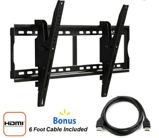 """Tilting Wall Mount for 37"""" to 70"""" TVs + FREE HDMI Cable Only $18 + FREE Store Pickup!"""