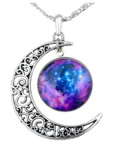 Yantu Silver Crescent Moon Necklace Only $10.99 + FREE Prime Shipping (Reg. $60)!