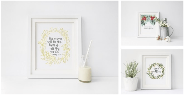 Handlettered Scripture Art Prints | 8x10 Download Was $10 - Now $3.49