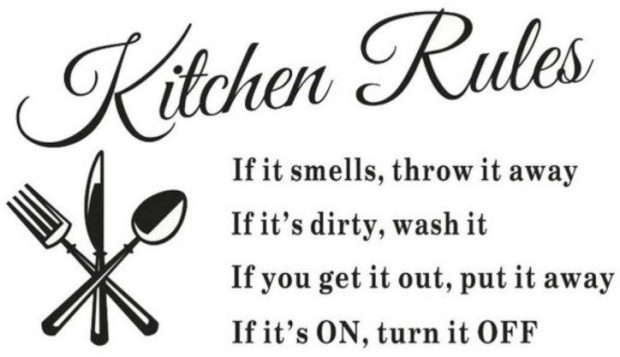 Kitchen Rules Wall Decal Just $2.47 + FREE Shipping!