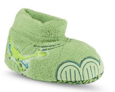 Disney The Good Dinosaur Toddler Boy's Arlo Green Plush Slipper Only $2.99! Down From $14.99!