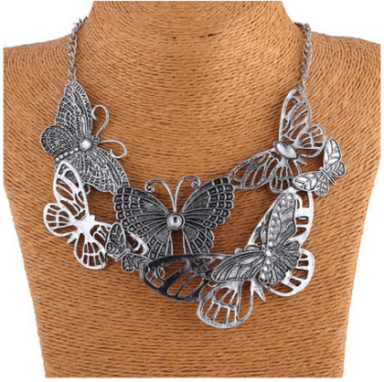 Hollow Out Butterfly Bib Necklace Only $4.85 With FREE Shipping!