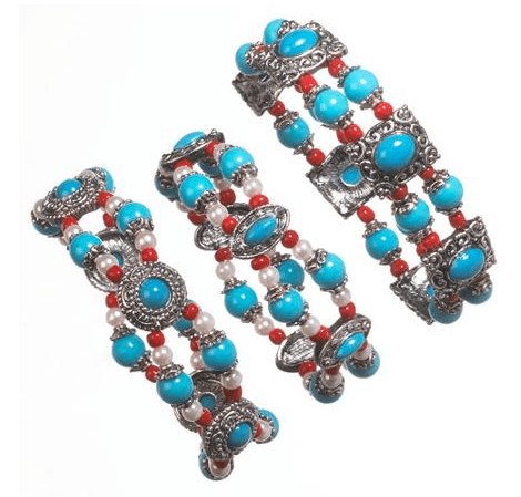 Imitation Turquoise Stretch Bracelets Just $9.95! Down From $24.00!