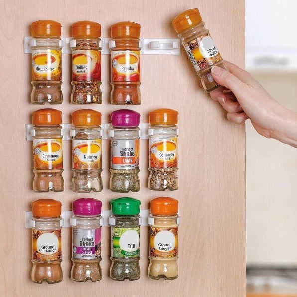 Spice Rack Organizer for Cabinet Doors
