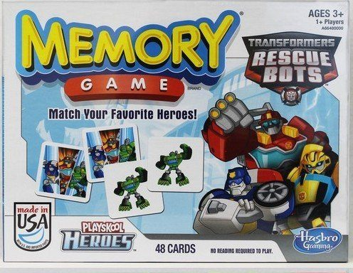 Transformers Rescue Bots Memory Game