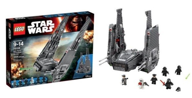 LEGO Star Wars Kylo Ren's Command Shuttle 75104 Building Kit Just $99!  FREE Shipping!