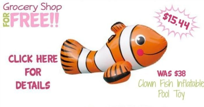Clown Fish Inflatable Pool Toy Just $15.44! Down From $38!