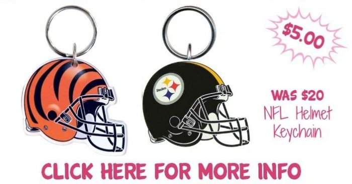 NFL Helmet Keychain Just $5.00! Down From $20! Ships FREE!