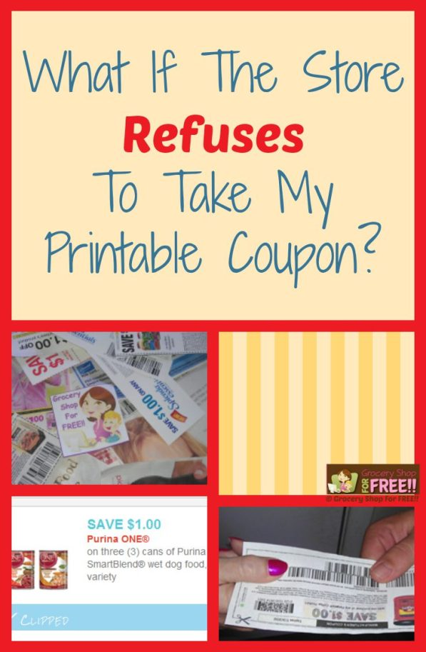 FAQ About Coupons: What If The Store Refuses My Printable Coupons?