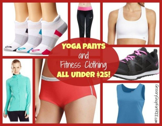 Yoga Pants And Fitness Clothing All Under $25