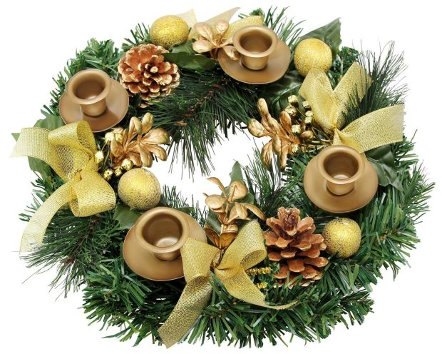 Traditional Christmas Advent Wreath Was $40 Now Just $26.99!