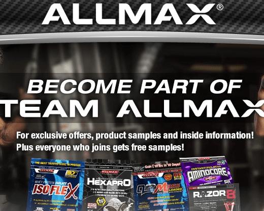 FREE ALLMAX Nutrition Sample!