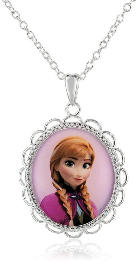 "Disney Girls' ""Frozen"" Silver-Plated Anna Pendant Necklace, 18"" Just $6.99! (Reg. $22)"