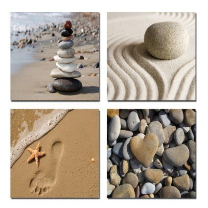 Beach Theme 4 Panels Canvas Print Only $27.90 Plus FREE Shipping!