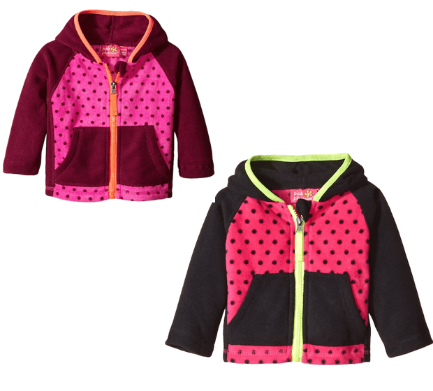 Pink Platinum Baby-Girls Dotted Fleece Jacket As Low As $3!  (Down From $55!)