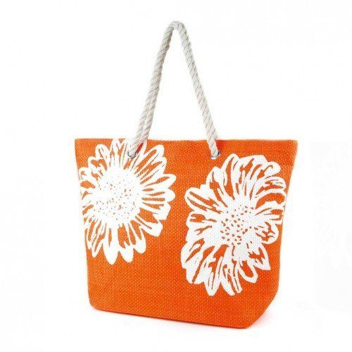 Floral Print Woven Summer Handbag Only $7.95 (reg $10)!