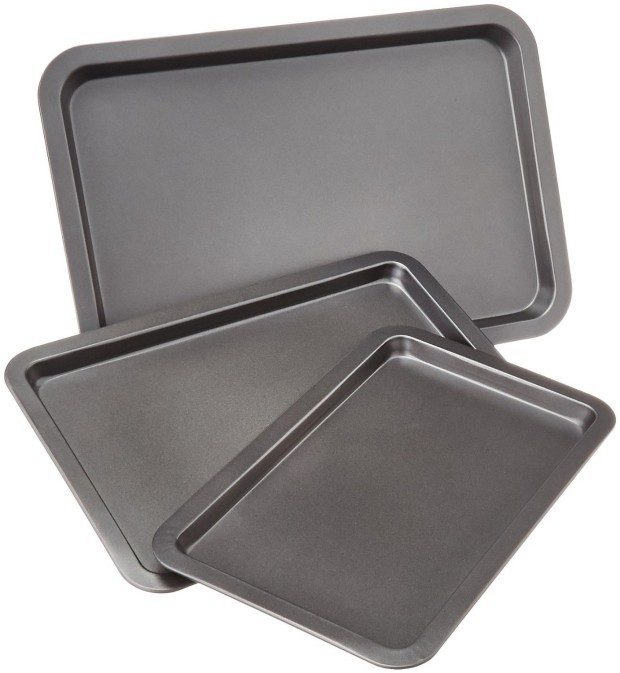 AmazonBasics 3-Piece Baking Sheet Set Only $12.79!