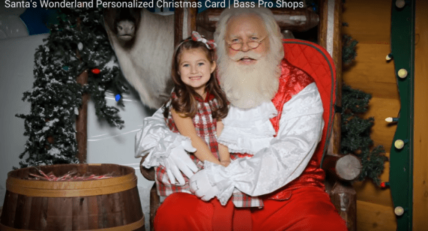 FREE Photo With Santa & Personalize Digital Christmas Card At Bass Pro Shops!