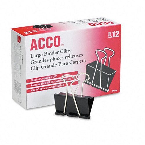 ACCO Binder Clips, Large, 12 Per Box Only $5.51!