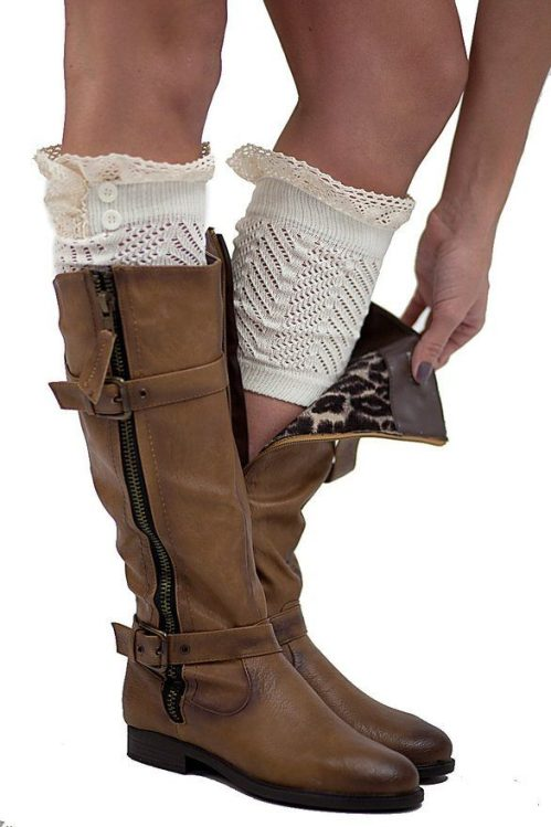 2 Button Lace Boot Cuffs Just $7.99!