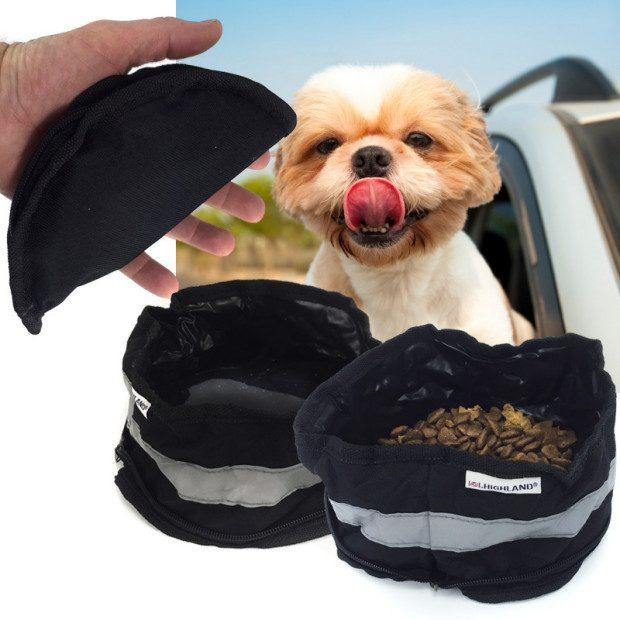 Highland On-The-Go Zip Up Pet Bowl - $4/1 Or $6/2 - Ships FREE!