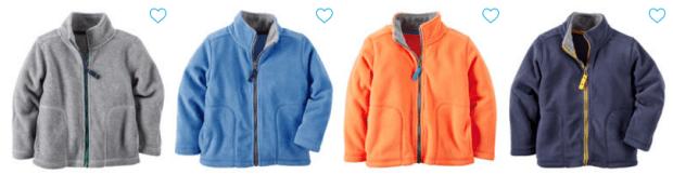 Fleece Jackets Just $5!