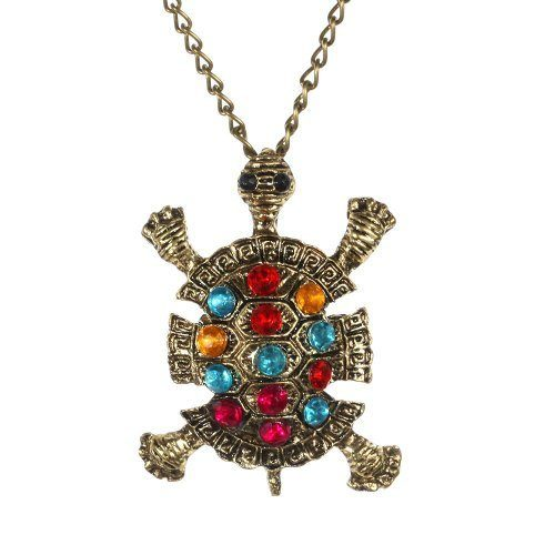 Bronze Crystal Tortoise Necklace Only $0.99 SHIPPED!