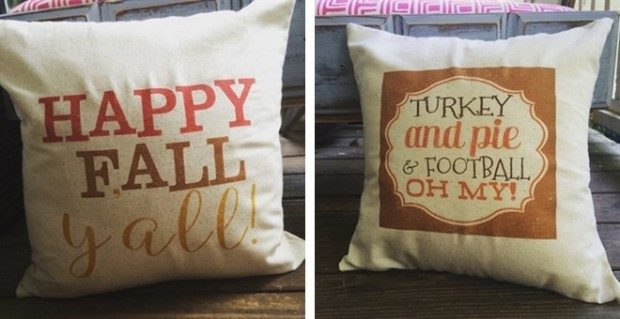 Fall Burlap Pillow Sham Cover Blowout Only $12.99!