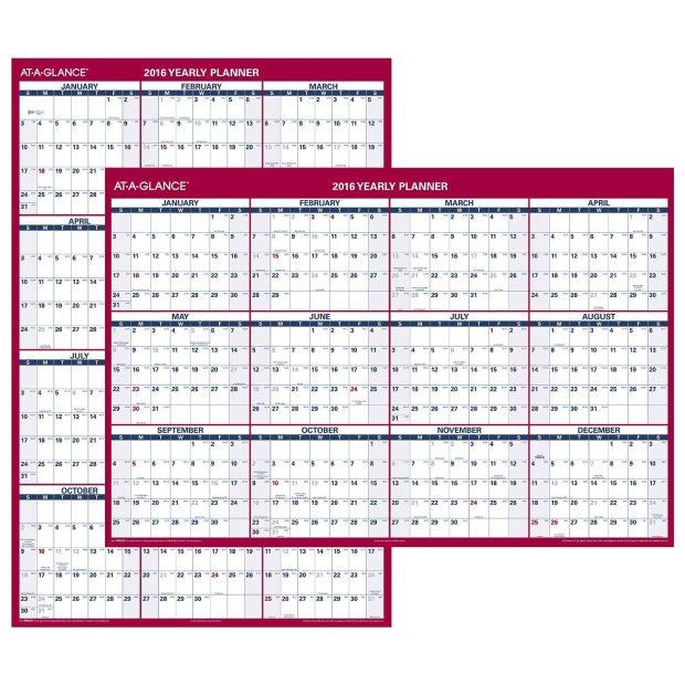 AT-A-GLANCE Wall Calendar 2016 Just $23.99!  (Reg. $44!)