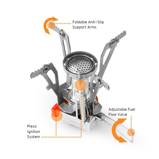 Camping Stove with Piezo Ignition Only $9.99! (Reg. $26!)