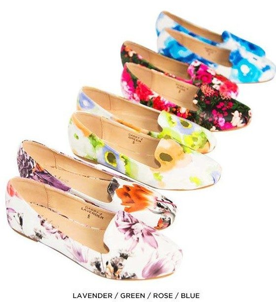Floral Print Slip-On Loafers Only $21 Shipped!