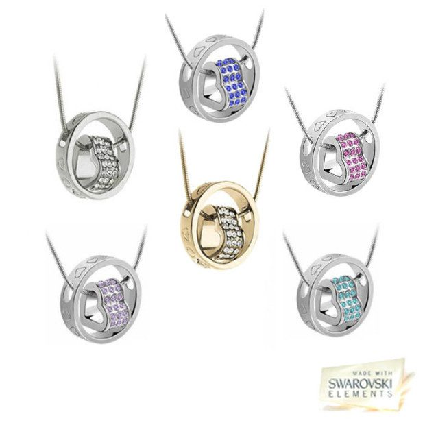 Swarovski Elements Encircled Heart Necklace Only $7.99 Plus FREE Shipping!
