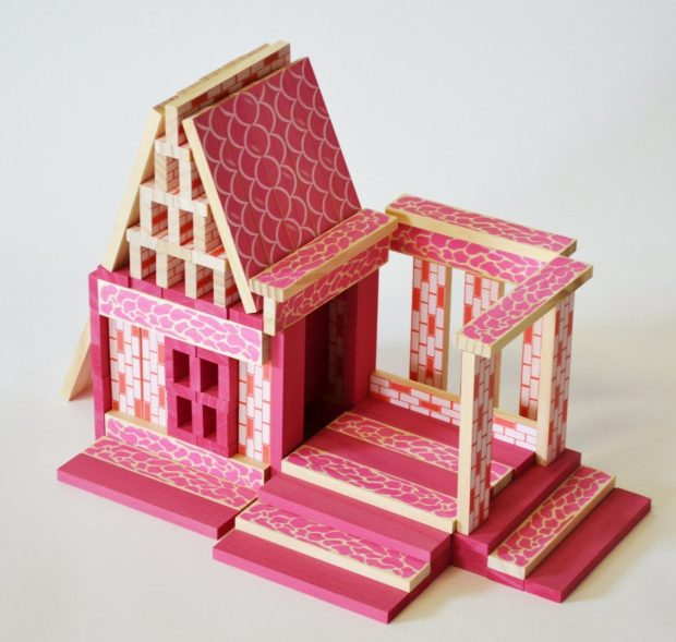 CitiBlocs 110-Piece Pretty in Pink Doll House Set Just $15.75! Down From $33!