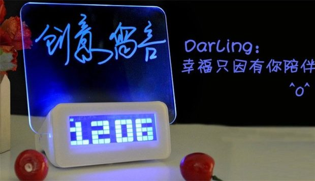 LED Digital Clock with Fluorescent Message Board Only $15.14! Ships FREE!