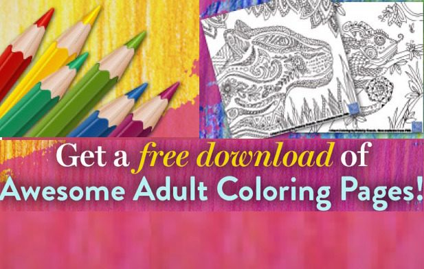 Free Adult Coloring Pages Download!