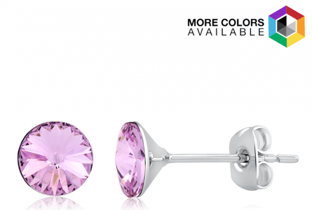 2Ct Swarovski Crystal White Gold Round Earrings Only $4.99 Shipped!