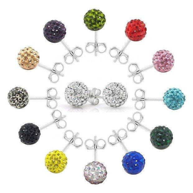 2 Ct Crystal Ball Sterling Silver Earrings Just $4.98 Shipped!