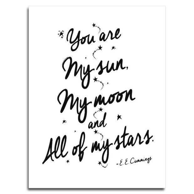 My Sun, My Moon and All of My Stars Poster Just $9.99 Ships FREE!