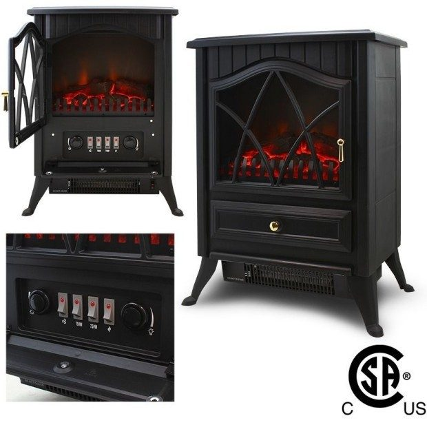 Free Standing Electric Fireplace Only $69.99 Ship FREE!