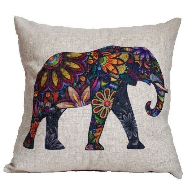 Elephant Pillow Cover Just $3.56 + FREE Shipping!